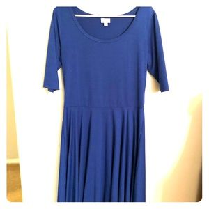 LuLaRoe Royal Blue Nicole Dress | Size XL